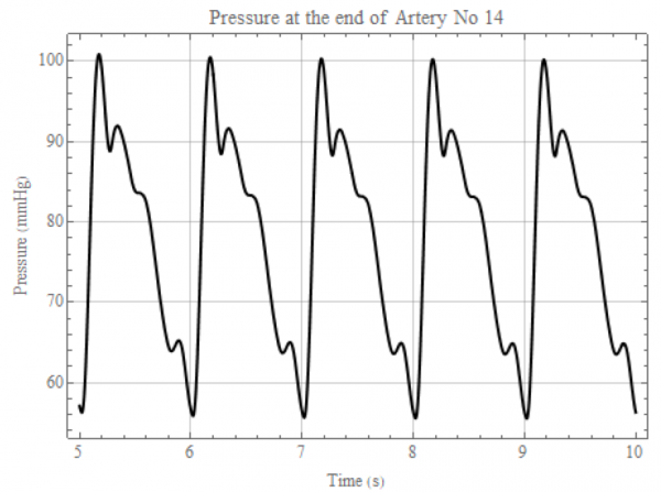 Modeling of the pressure in the aortic arch